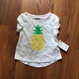 NWT Harper Canyon White Pineapple T Shirt